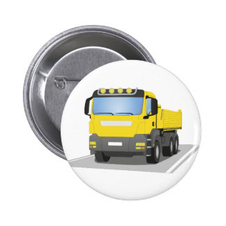 yellow building sites truck button