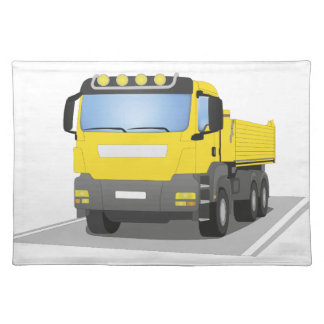 yellow building sites truck placemat