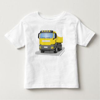 yellow building sites truck toddler t-shirt