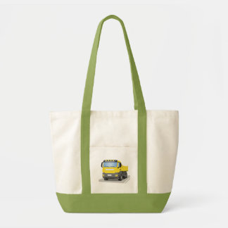 yellow building sites truck tote bag