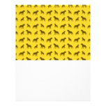 Yellow bulldog pattern custom flyer