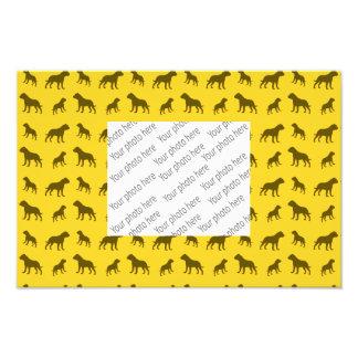 Yellow bulldog pattern photo print