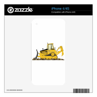 Yellow Bulldozer iPhone 4S Skin
