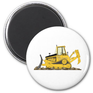 Yellow Bulldozer Magnet
