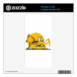 Yellow Bulldozer Sun Decals For The iPhone 4