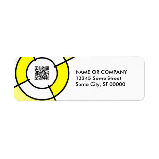 yellow bullseye QR code Label