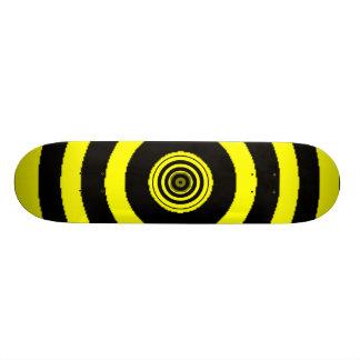 Yellow Bullseye Skateboard