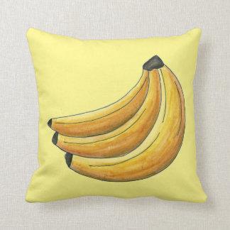 Yellow Bunch of Bananas Banana Fruit Pillow