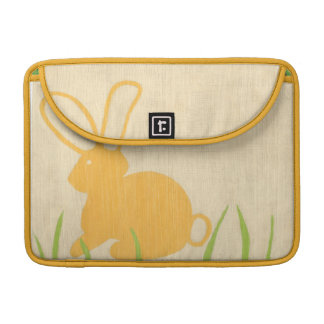 Yellow Bunny and Green Grass by Chariklia Zarris MacBook Pro Sleeve