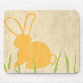 Yellow Bunny and Green Grass by Chariklia Zarris Mouse Pad