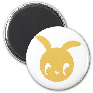 Yellow Bunny Refrigerator Magnet