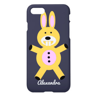 Yellow Bunny personalized iphone 7 case