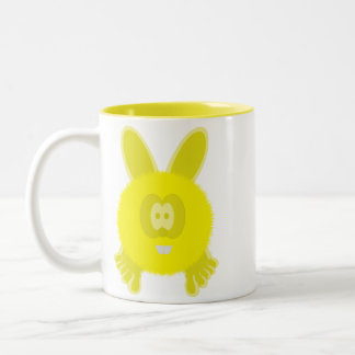 Yellow Bunny Pom Pom Pal Mug