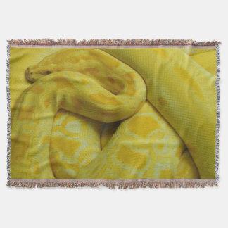 Yellow Burmese Python Throw