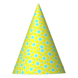Yellow Bursts Party Hat