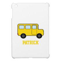 Yellow Bus Custom Name iPad Mini Cover