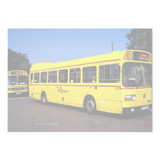 Yellow buses, London, England 5x7 Paper Invitation Card