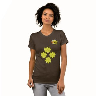 Yellow Bush Flowers T Shirt