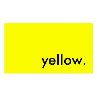 yellow. business card