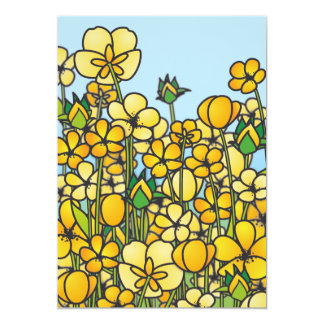Yellow butter flowers card