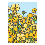Yellow butter flowers cards