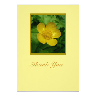 Yellow Buttercup Floral Sympathy Thank You Card