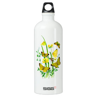 Yellow Butterflies and Yellow Wildflowers SIGG Traveler 1.0L Water Bottle