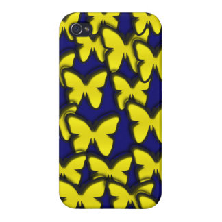 YELLOW BUTTERFLIES iPhone 4/4S COVER