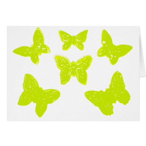 Yellow Butterflies Pattern Greeting Cards