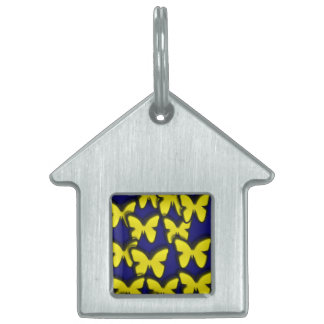 YELLOW BUTTERFLIES PET TAG