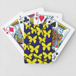 YELLOW BUTTERFLIES BICYCLE CARD DECK