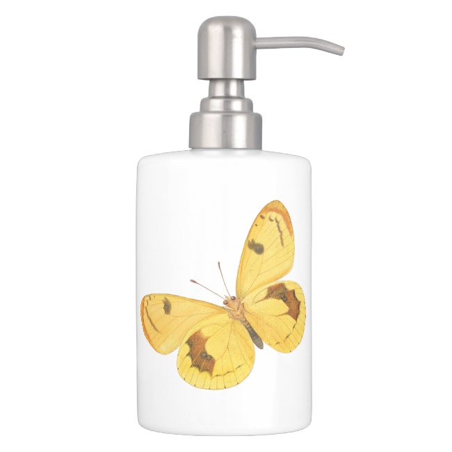 Yellow Butterflies - Soap Dispenser Set