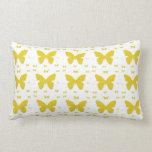 Yellow Butterflies Throw Pillows