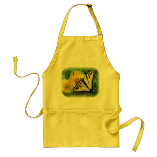 Yellow Butterfly Adult Apron