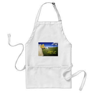 Yellow Butterfly and Dress Custom Monogram Adult Apron