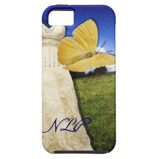 Yellow Butterfly and Dress Custom Monogram iPhone 5 Cover