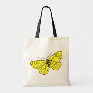 Yellow Butterfly Budget Tote Bag