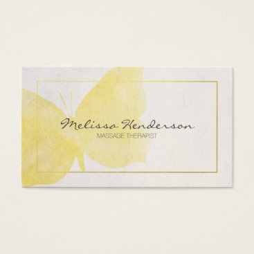 Professional Business Yellow Butterfly Business Card