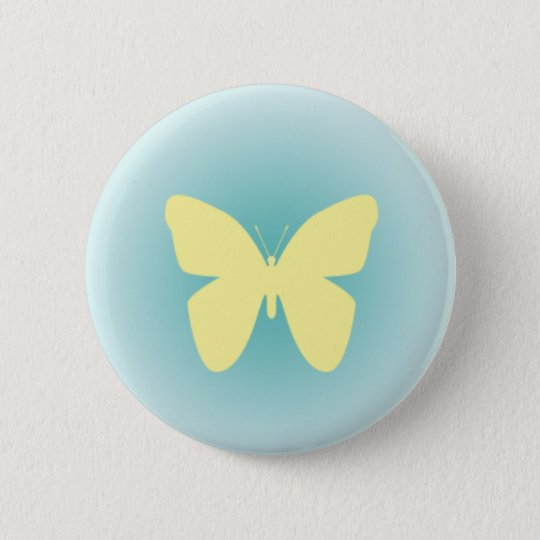 Yellow Butterfly Button