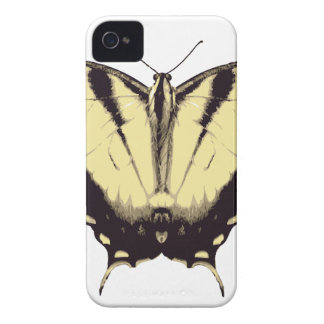 Yellow Butterfly iPhone 4 Case