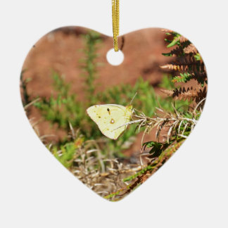 Yellow Butterfly Ceramic Ornament