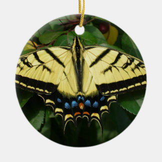 Yellow Butterfly Christmas Tree Ornaments