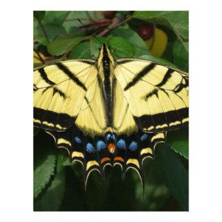 Yellow Butterfly Custom Letterhead