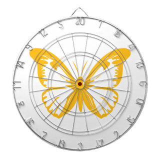 Yellow Butterfly Dartboard