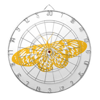 Yellow Butterfly Dartboard With Darts