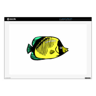 Yellow Butterfly Fish Laptop Decals
