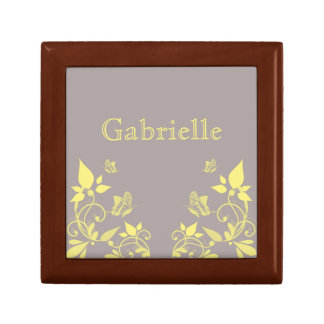Yellow Butterfly Floral Gift Box