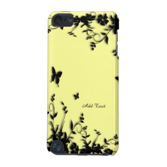 Yellow Butterfly Garden Custom iPod Touch 5 Case iPod Touch 5G Cases