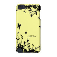 Yellow Butterfly Garden Custom iPod Touch 5G Cases