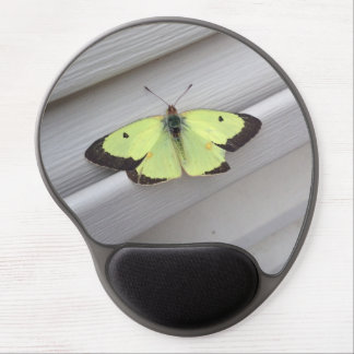 Yellow Butterfly Gel Mouse Mats